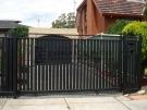 SG18 – Steel Vertical Slats + Criss Cross Sliding Gate – Melbourne
