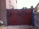 DG9 – Bluestone Frame + Jarrah Slats Double Gate – Werribee