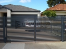 DG12 – Horizontal Bluestone Slats Double Gate – Werribee
