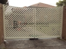 DG27 – Diagonal Steel Slats Double Gate – Werribee