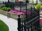 SF34 – Black Wraught Iron Fence Panels – Melbourne