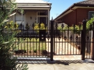 SF49 – Black Heritage Spear Steel Fencing Single Gate with Mailbox