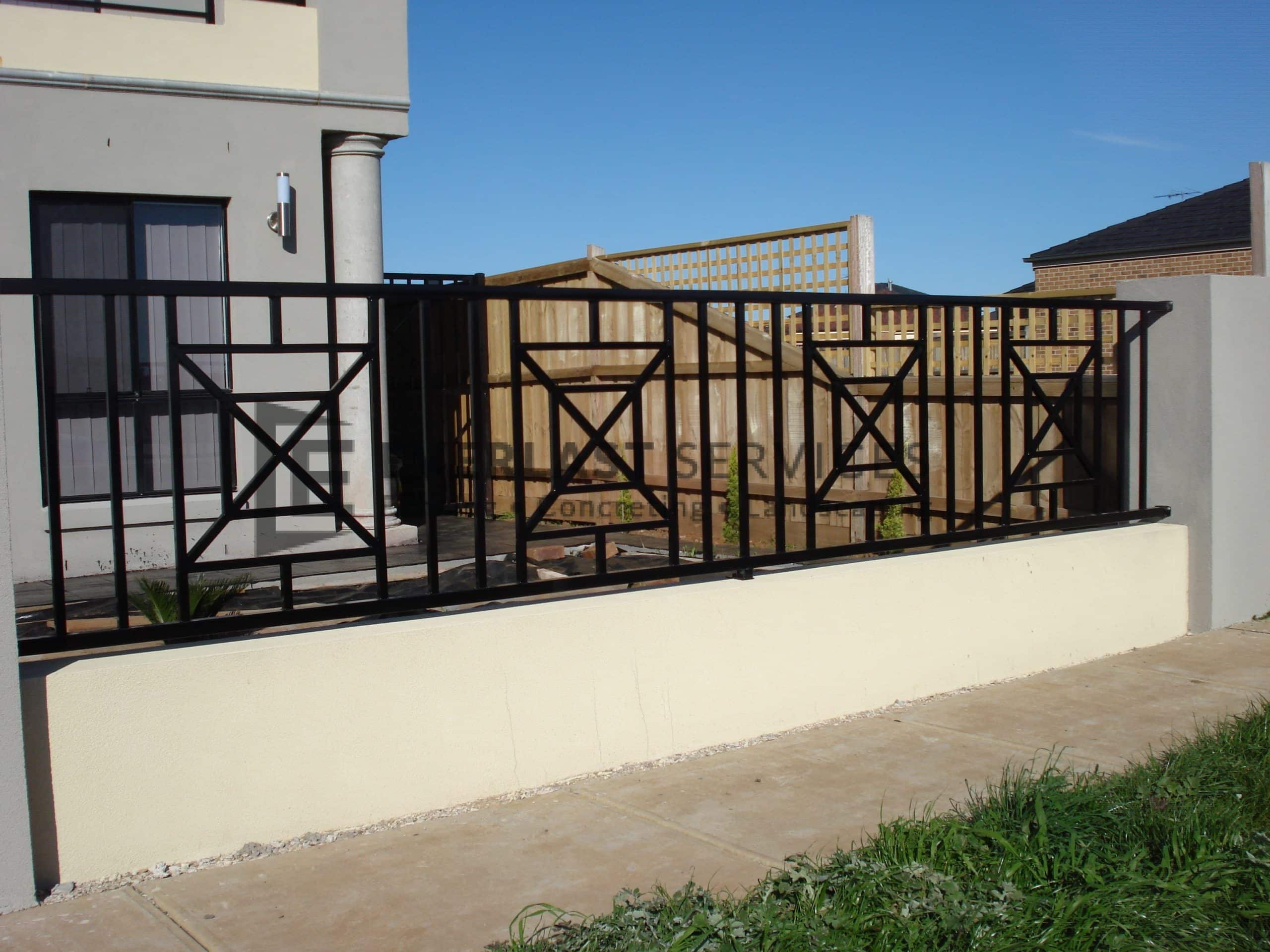 SF70 - Black Wraught Iron Fence Panels