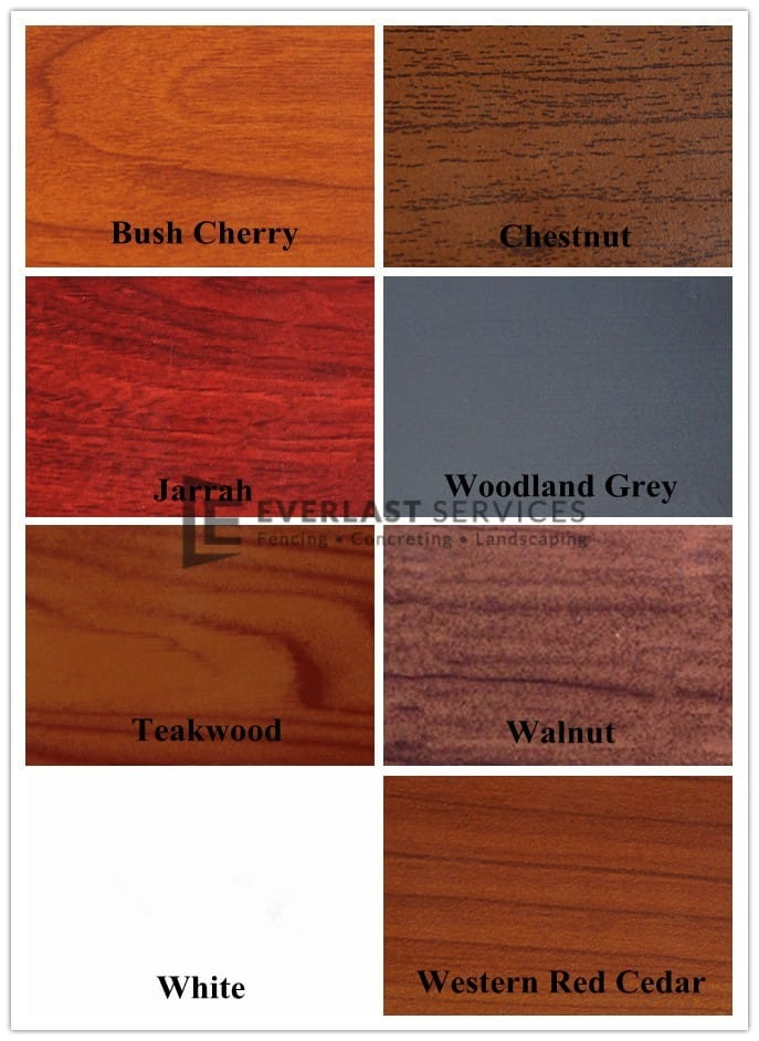 3 - Aluminium Slats Colours