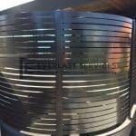 A15 - Curved Metropolis Bronze Slats Level Top View