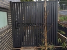 SS59 – Monument Vertical Slats Single Gate – Strathmore Front View