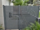 SS103 – Aluminium Slats Single Gate + Panel