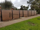 A183 – Aluminium Kawila Slats Fencing with Single Gate