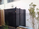 SS56 – Black Slats Single Gate with 2 Panels Side View