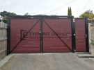 DG61 – Jarrah Slats Double Driveway Gate Plus Single Entry Gate