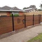 A185 - Aluminium Kawila Slats Fencing with Sliding Gate 2