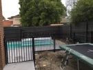 SF110 – Black Square Flat Top Swimming pool fence