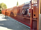 SG31 – Manor Red Double Spear Sliding Gate