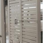 A58 - Surfmist Horizontal Privacy Slats Screening Side View