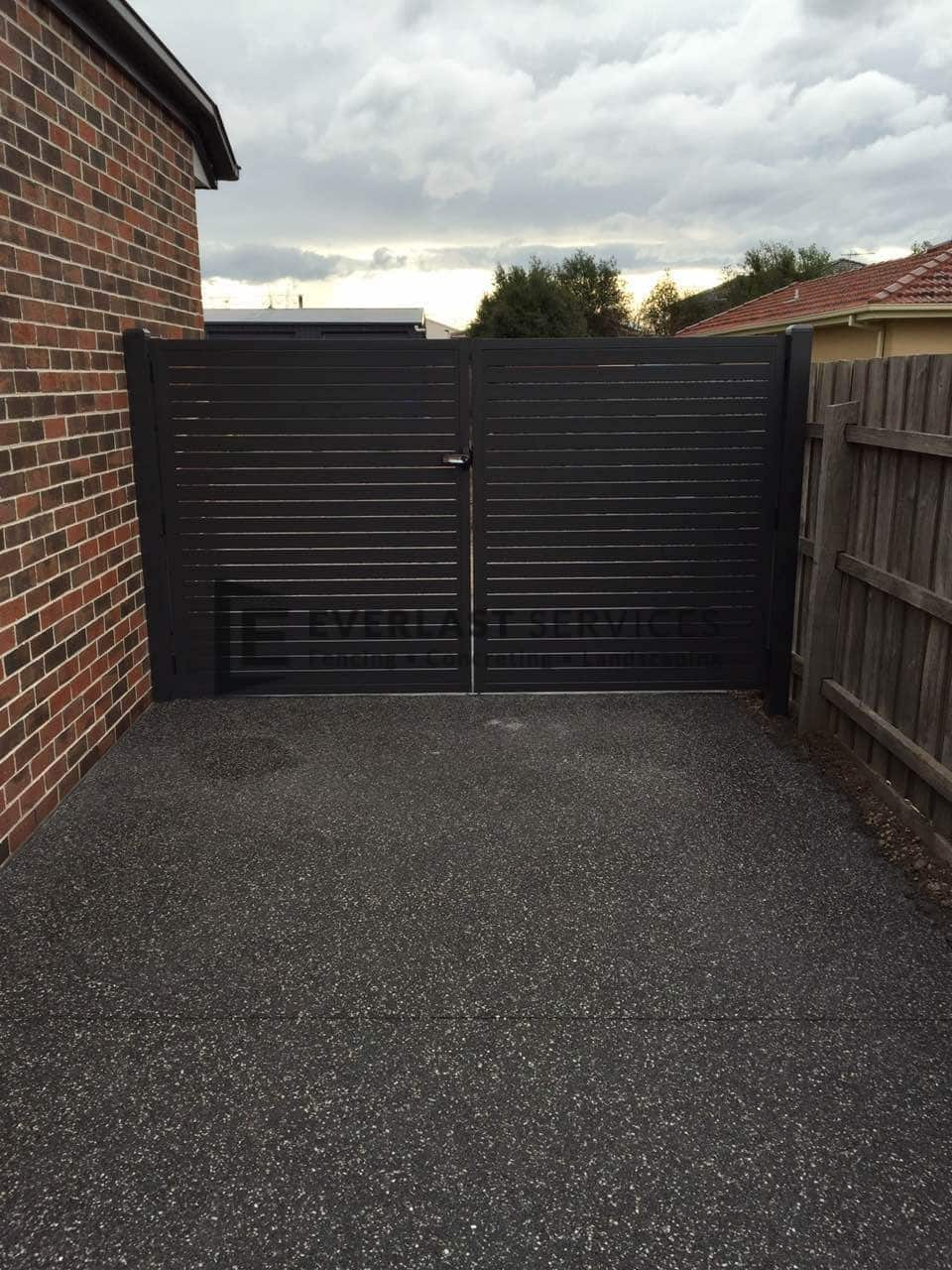 DG19 - Charcoal Slats Double Gate