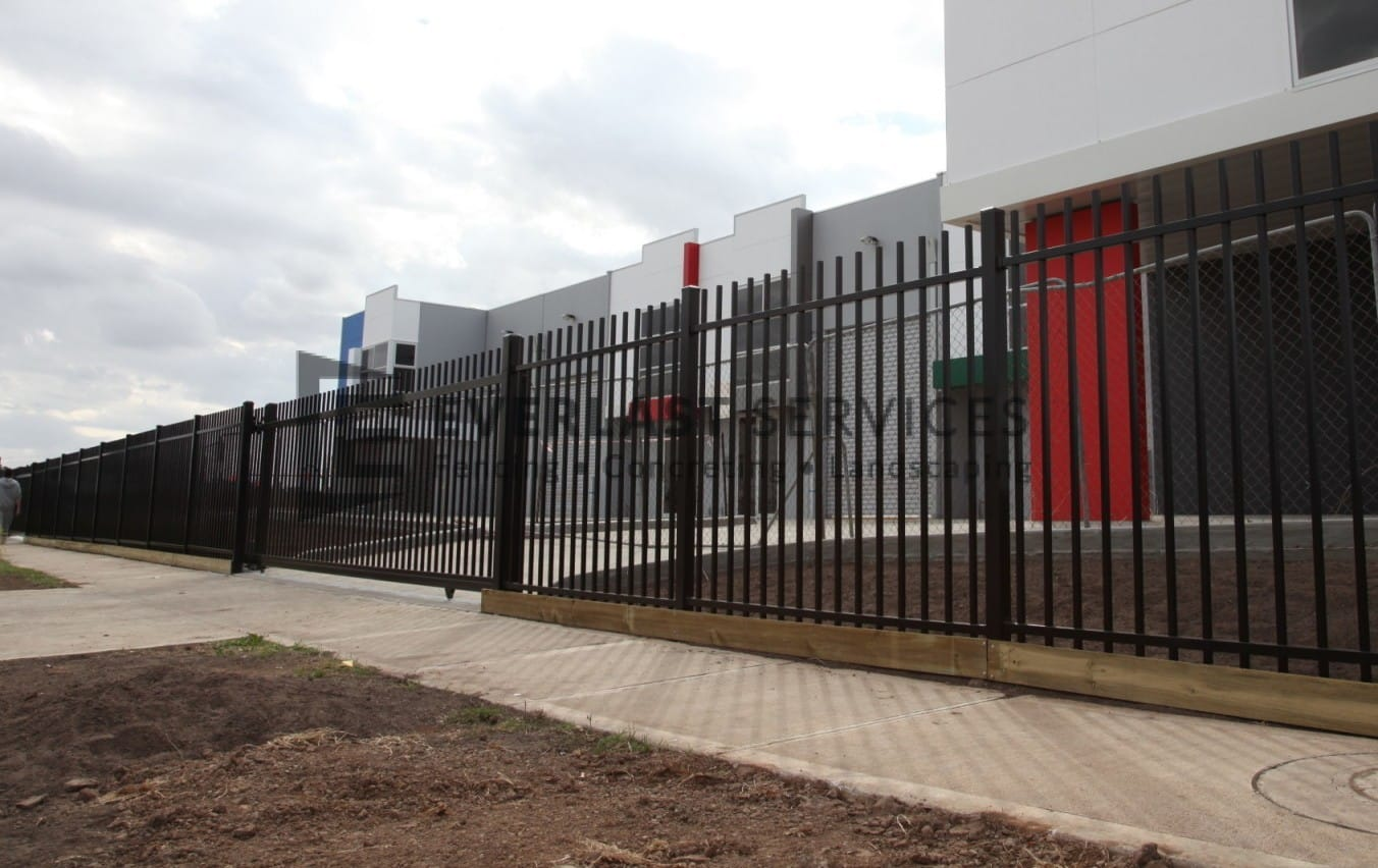 IS4 - Rod Top Factory Fencing Sliding Gate at Ravenhall