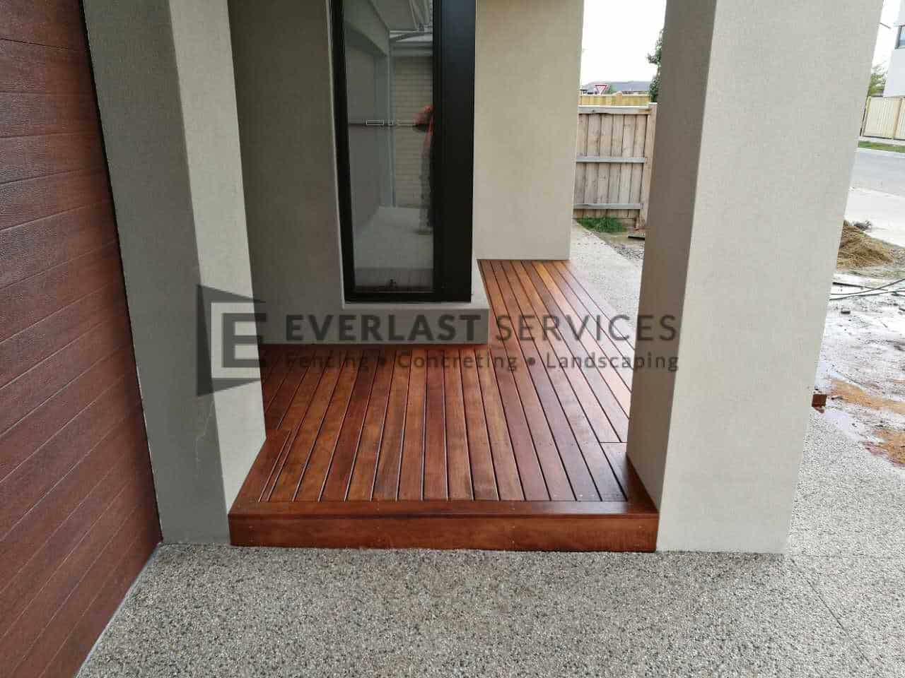 Timber Decking Front Door Step