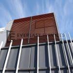 CF2 - Commercial Vertical Blade with Horizontal Woodlook Screening View 4