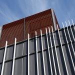 CF3 - Commercial Vertical Blade with Horizontal Woodlook Screening View 5