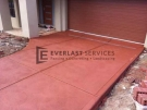 CC4 – Red Coloured Concrete Driveway