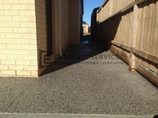 EA5 - Exposed Aggregate Side of House