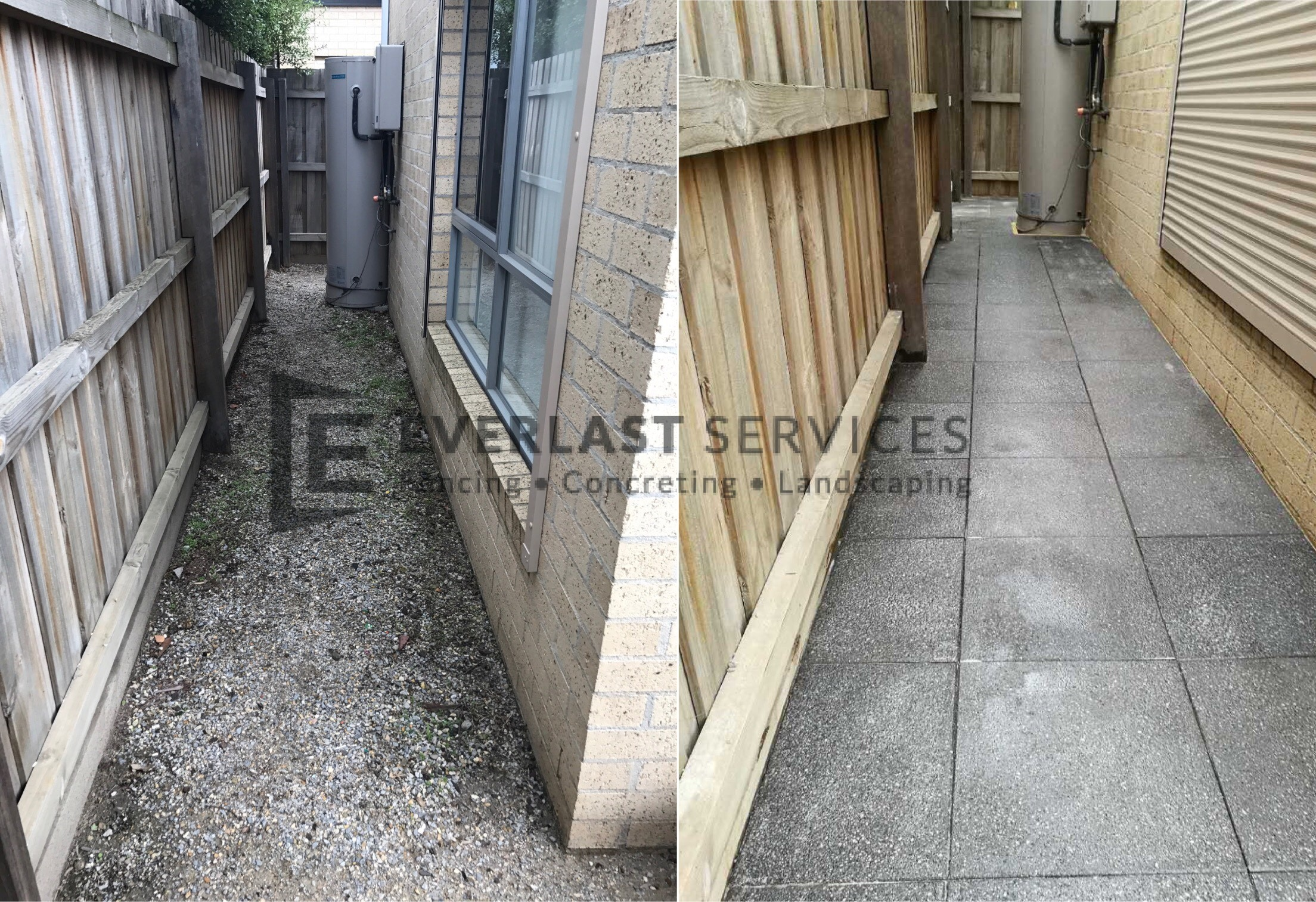 L86 - Before and After Side Access Eurostone Paving