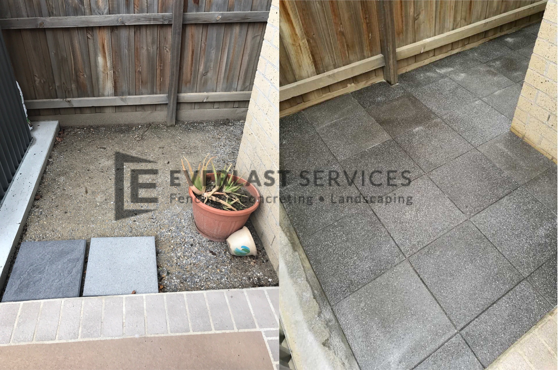 L80 - Corner Before and After Eurostone Paving