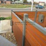 A50 - Woodland Grey Bar with WRC Slats Fencing Close Up