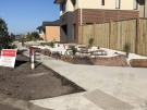 L87 – Front Mud Rock Retaining Wall + White Ice Pebble 2