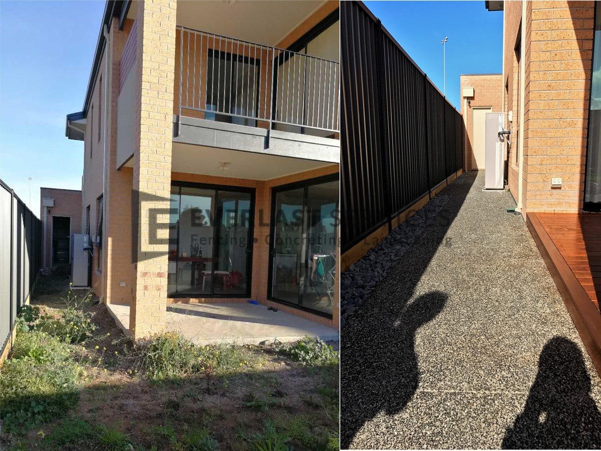 EA35 - Side Access Exposed Aggregate Before and After
