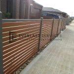 A51 - Woodland Grey Bar with WRC Slats Fencing