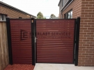SS54 – Black Frame with Jarra Slats Side Gate with Panel