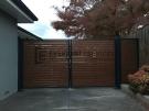 Kawila Slats Double Driveway Gate