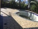 STE8 – Bush Rock Stencil Concrete around Pool