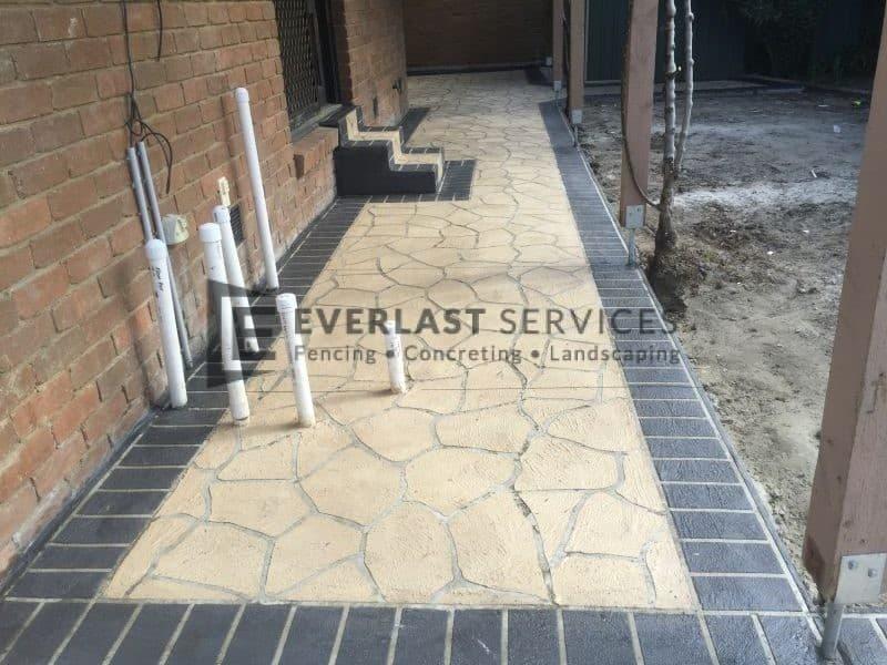 STE9 - Bushrock Stencil Concrete Path