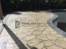 STE5 – Bushrock Stencil Concrete around Pool