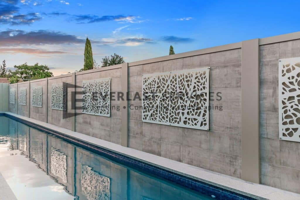 MW 66 - Swimming Pool Modular Fence + Decorative Feature Wall