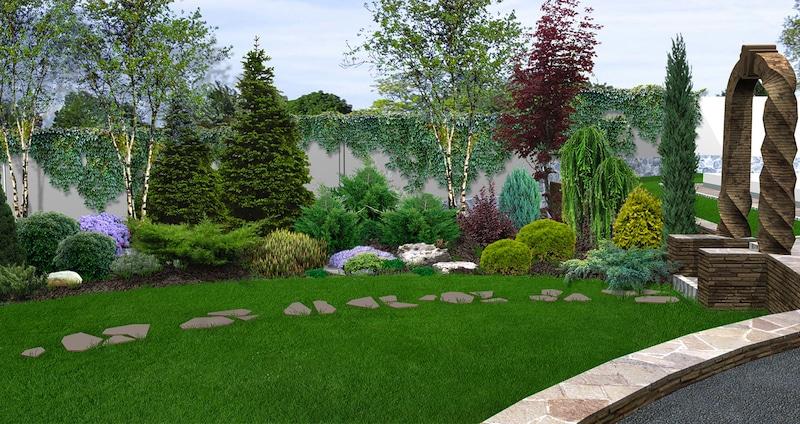 3D Illustration of a backyard makeover