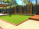 Synthetic Grass with Merbau Edging
