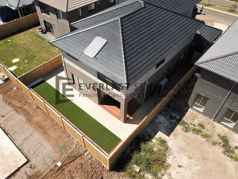 L139 - Aerial View of Backyard Landscaping
