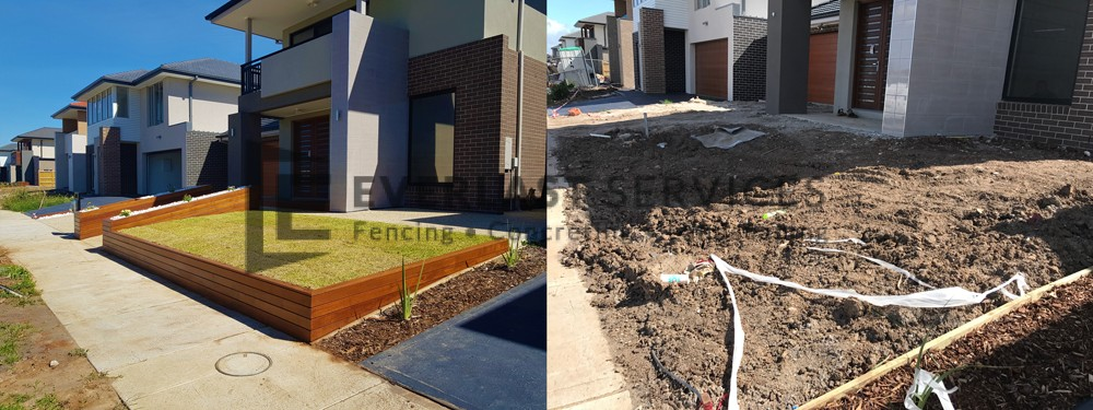 L148 - Before and After Front Landscaping