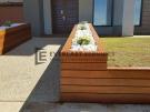 Front View Merbau Garden Box