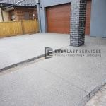 EA63 - Exposed Aggregate Front Driveway and Path View 2