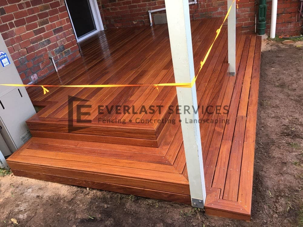 Backyard Decking with 3 Steps View 2