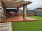 Alfresco decking with outdoor kitchen