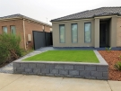 L190 – Front Versablock Retaining Wall + Synthetic Grass