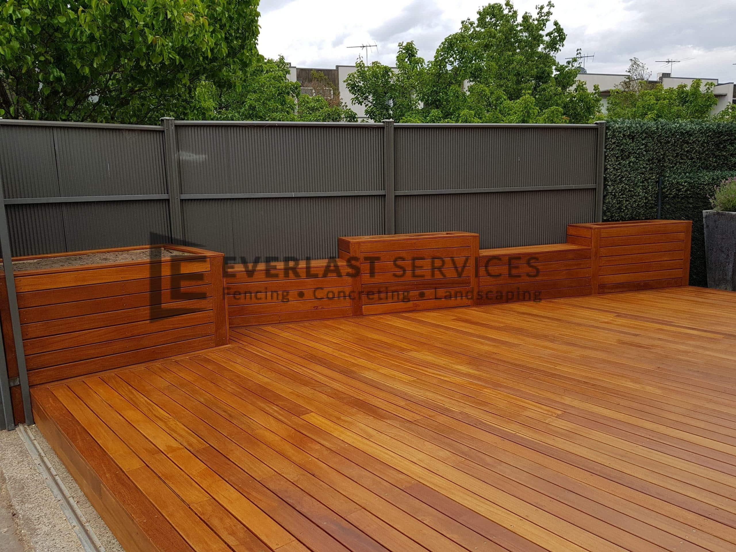 Garden Box + Bench + Decking View 2
