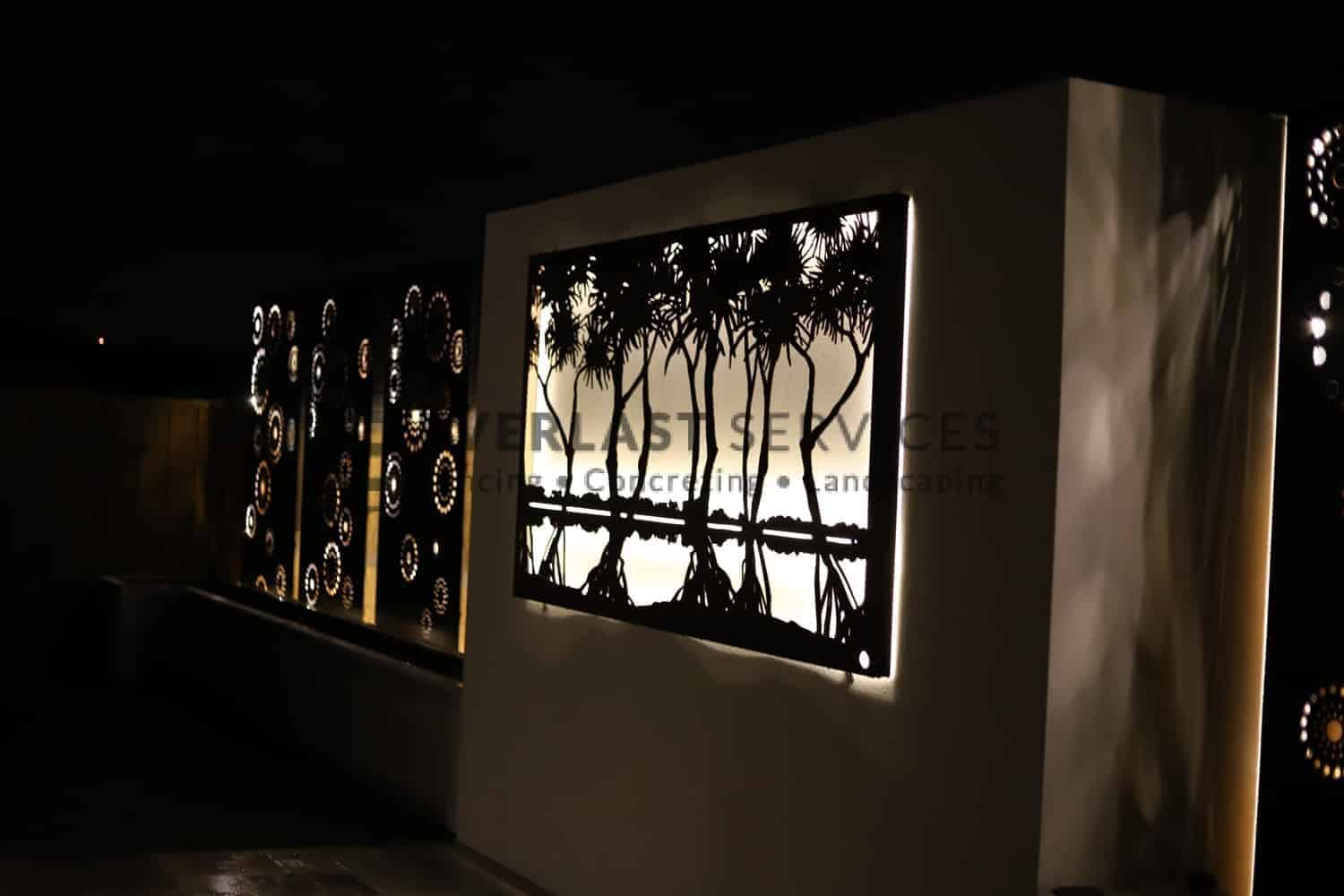 L218 - Laser Cut Screen - Night View 4
