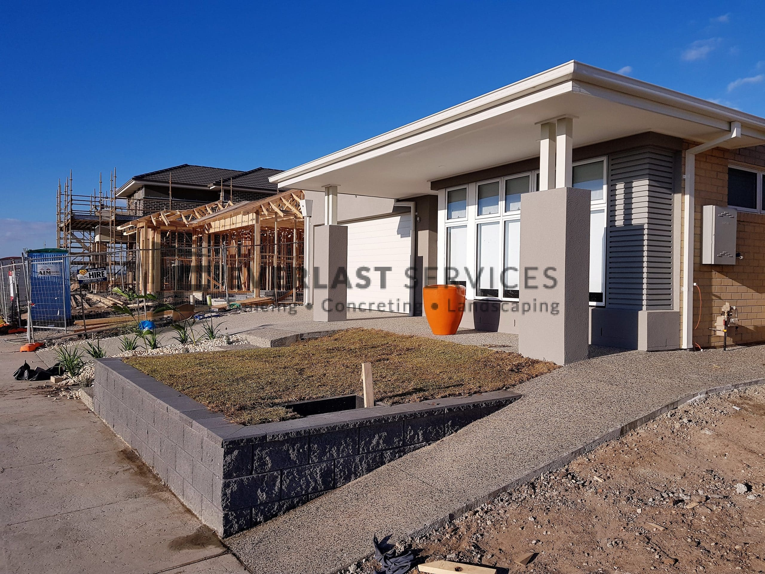 L235 - Front Versawall Landscaping Giaconda Point Cook