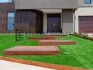 L271 – Point Cook – Front yard with wooden staircase going to front door